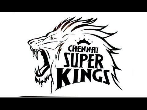 How to draw Chennai super kings logo.
