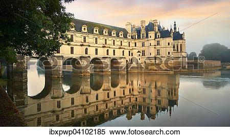 Stock Image of Chateau de Chenonceau, Loire Valley, Chenonceaux.