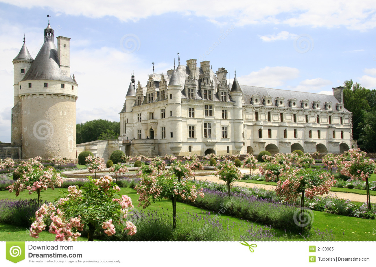 Chateau De Chenonceau Royalty Free Stock Photo.