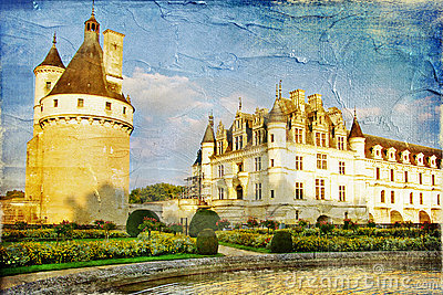 Chenonceau Stock Illustrations.