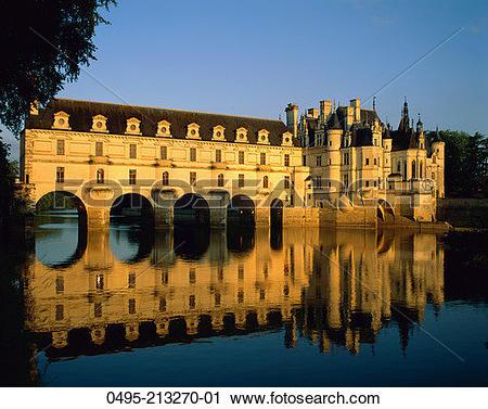 Stock Photography of France, Chenonceau Castle (Chateau de.