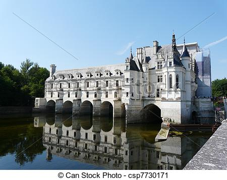 Stock Photography of Chateau de Chenonceau, France.