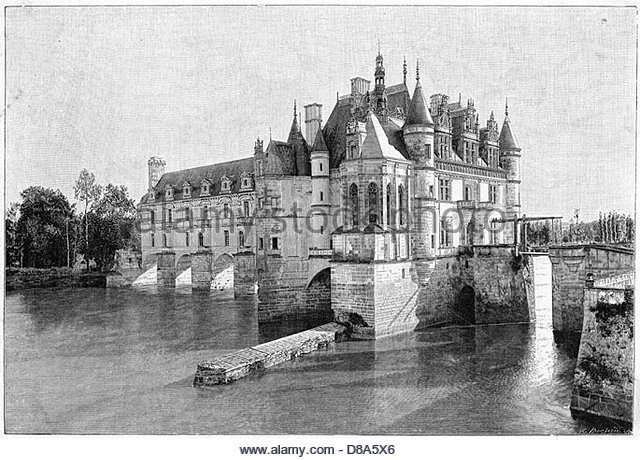 Chateaux Black and White Stock Photos & Images.