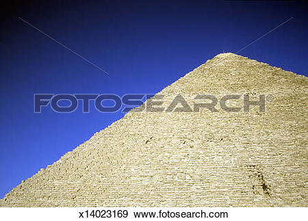 Stock Photograph of Great Pyramid of Cheops.