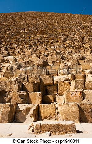 Clipart of Sign Giza Pyramid Khufu Cheops Base.