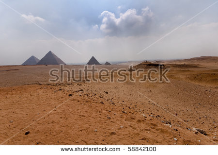 Pyramid Khafre Chephren White Polished Limestone Stock Photo.