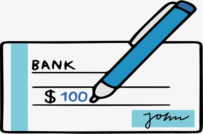 Signature Of Cheque Book, Book Vector, V #105931.