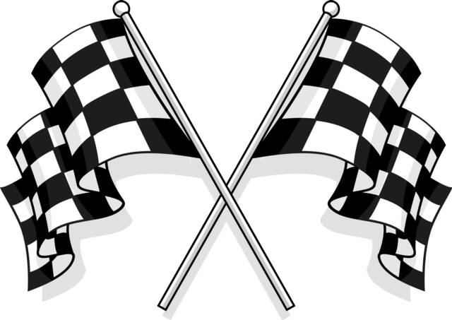 Clip Art Chequered Flag.