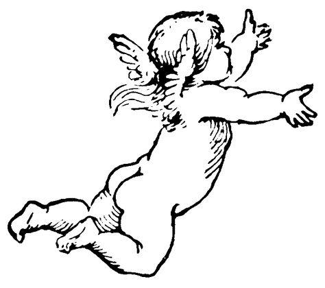 Vintage cherub clipart.