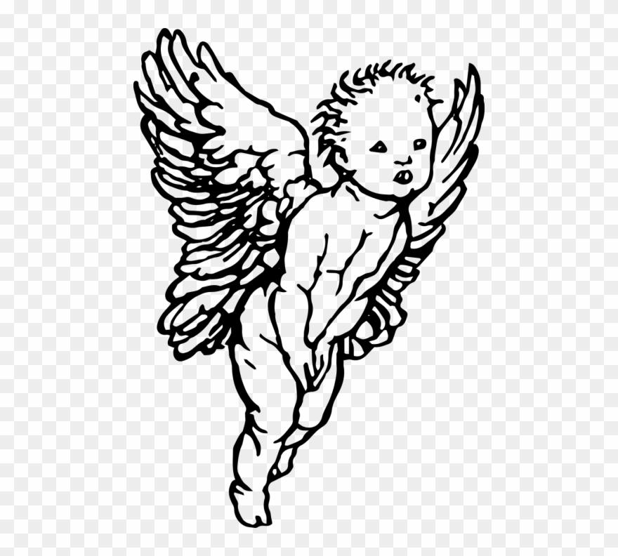 Simple Drawing Cherub Angel Clipart (#890724).