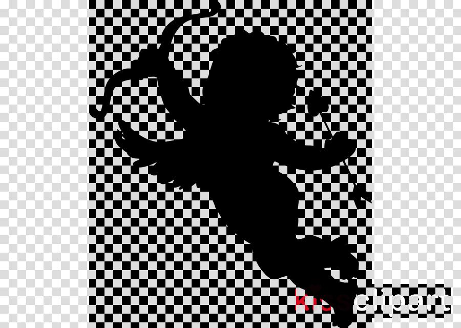 cupid silhouette clipart Cherub Silhouette Clip art clipart.