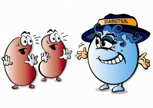 Diabetic person clipart.