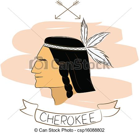 Free cherokee indian clipart.