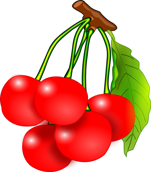 Free to Use & Public Domain Cherries Clip Art.