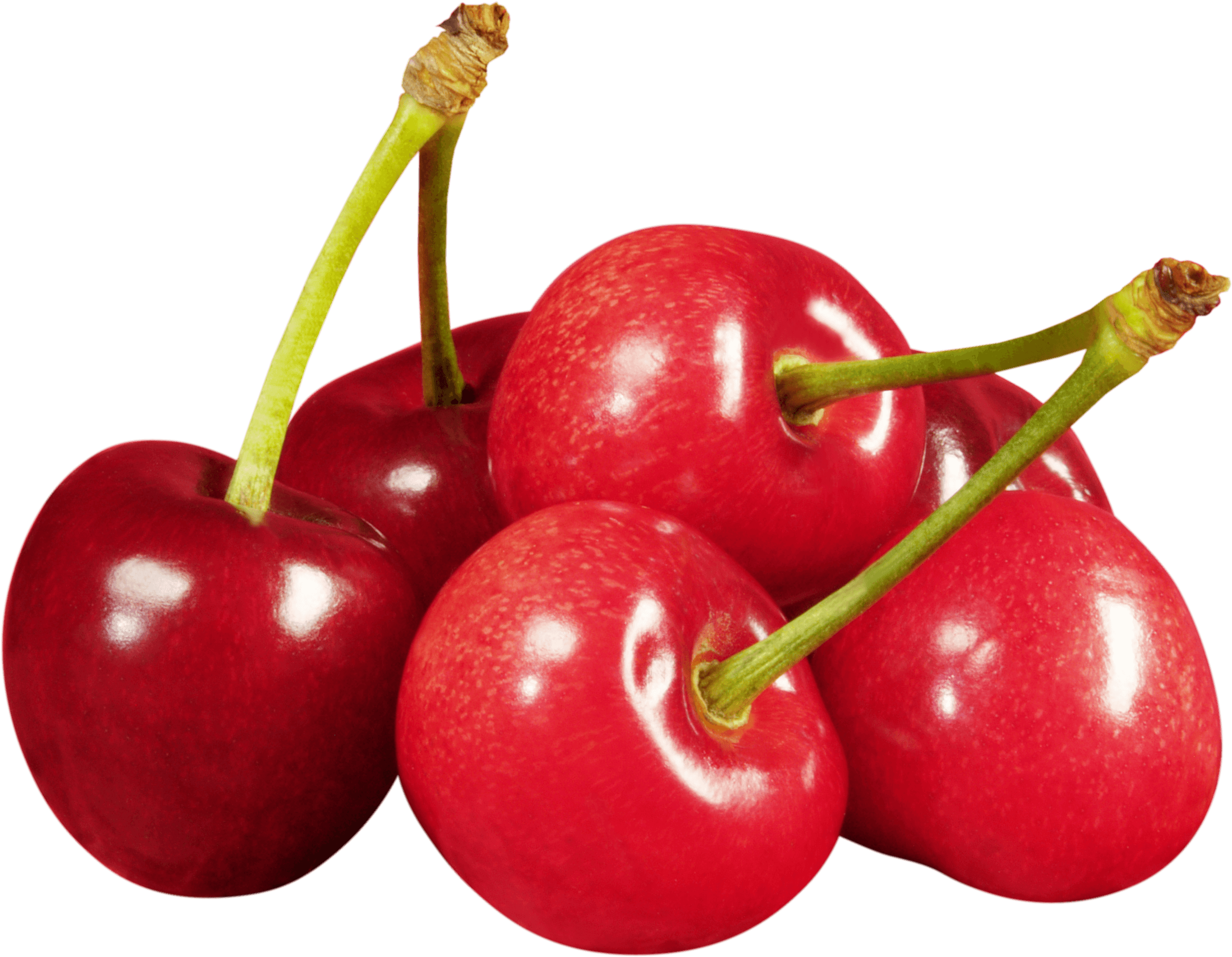 Group Of Cherries transparent PNG.