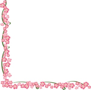 Cherry Blossom Border Free Clip Art.