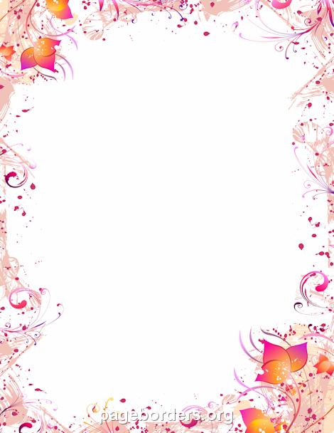 Printable cherry blossom border. Free GIF, JPG, PDF, and PNG.