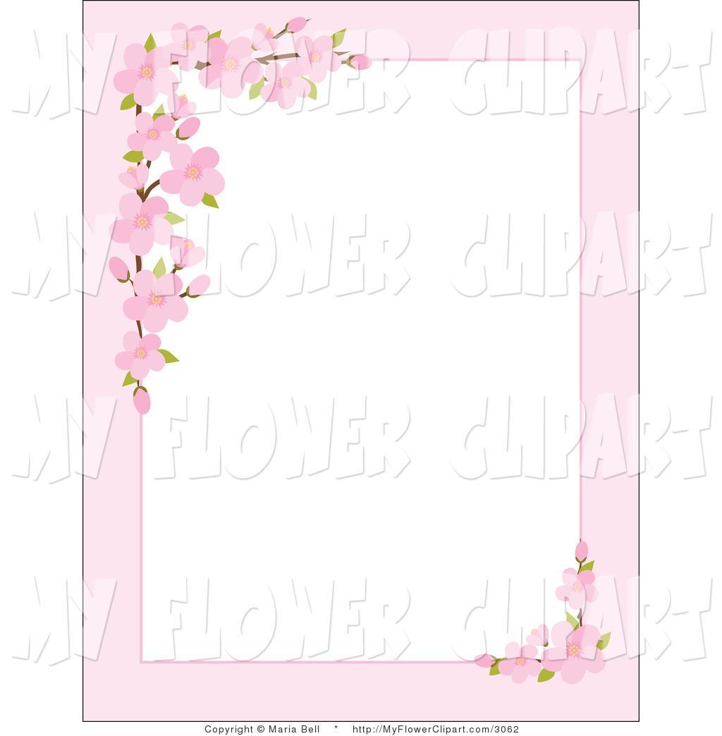cherry blossom border free clip art clipground