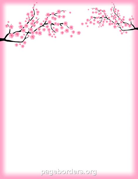 cherry blossom border free clip art