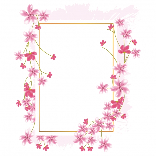 Sakura Cherry Blossom Flower Border, Frame, Spring, Blossom PNG and.