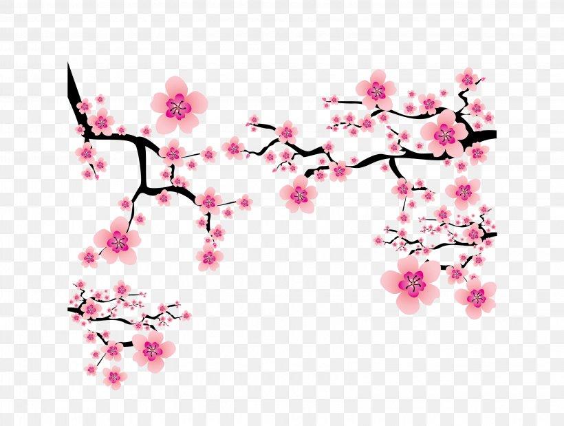 Cherry Blossom Plum Blossom Clip Art, PNG, 3261x2463px, Plum.