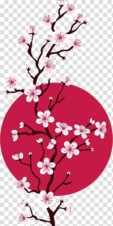 Sakura branch , Cherry blossom Cross.