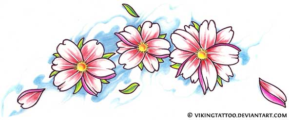 Cherry Blossom Tattoo Designs.