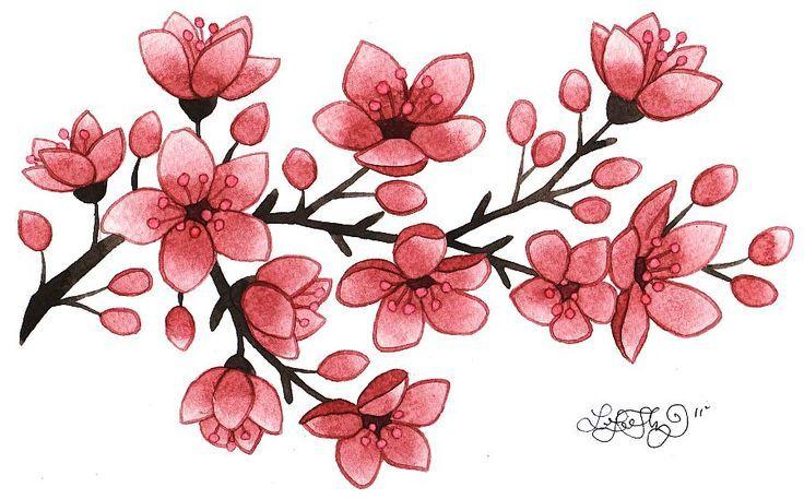sakura flower embossing.