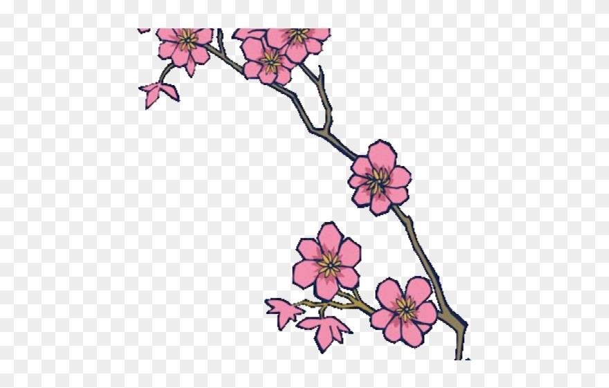 Cherry Blossom Clipart Pixel Art.