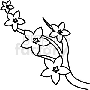 japanese cherry blossom vector icon clipart. Royalty.