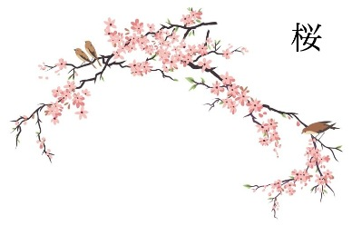 Japanese blossom clipart.