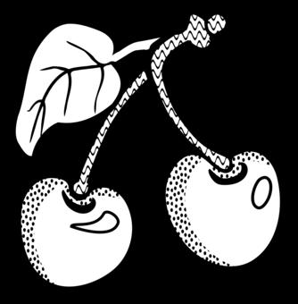 Cherry clipart black and white 4 » Clipart Portal.