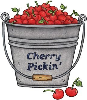imagens decoupage clipart Cherry Picking.