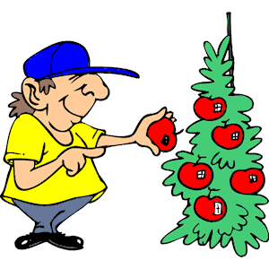 Picking Fruit Clipart.
