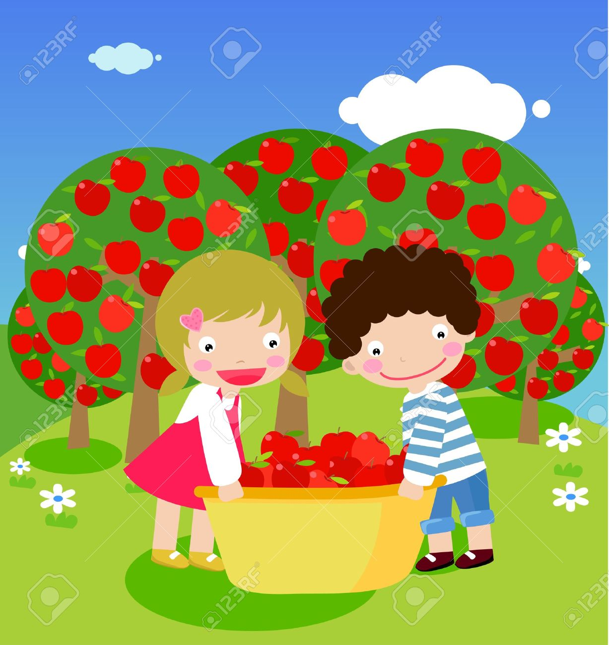 Cherry picking clipart.