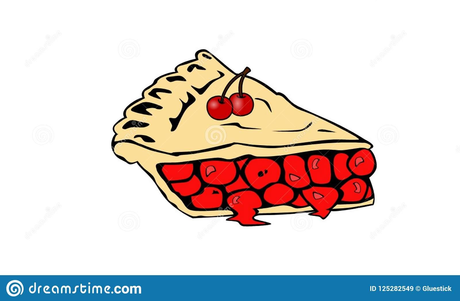 Cherry Pie stock image. Illustration of pies, cherries.