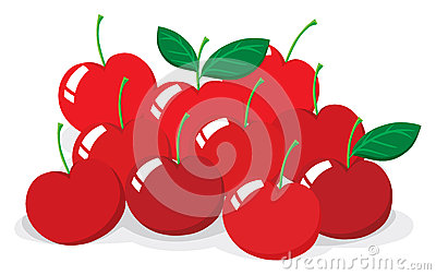Red Cherries Clip Art Royalty Free Stock Images.