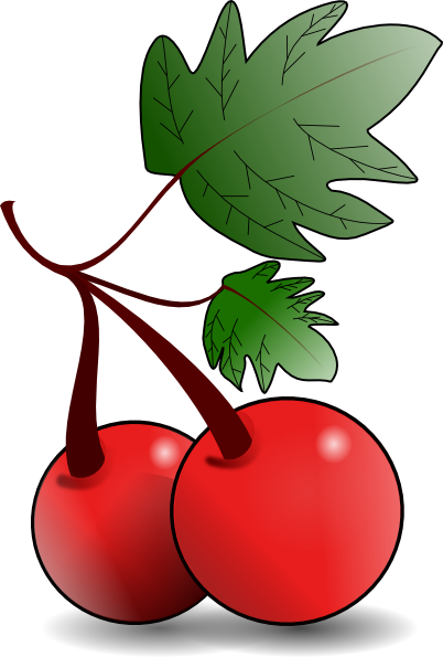 Cherries Fruit Clip Art at Clker.com.