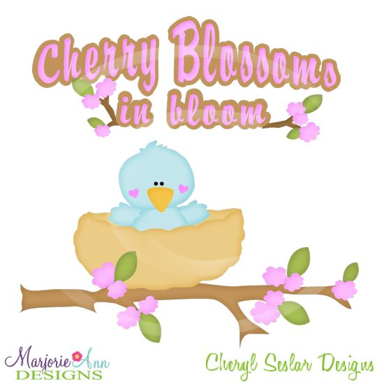 Cherry Blossoms In Bloom~SVG.