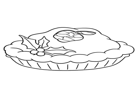 Cherry Pie Coloring Sheet coloring page, coloring image, clipart.