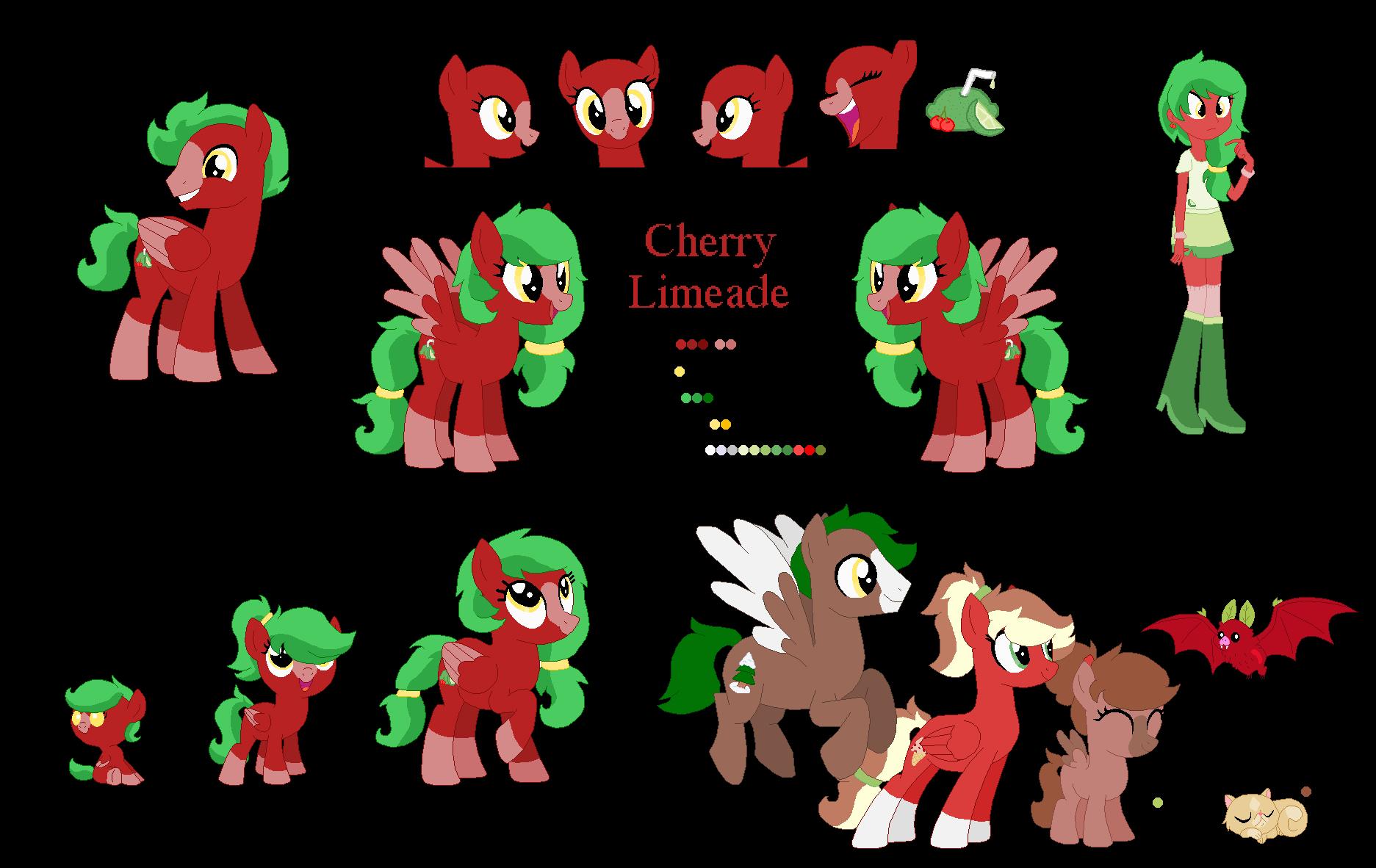 Cherry Limeade : Ref Sheet by zafara1222 on DeviantArt.