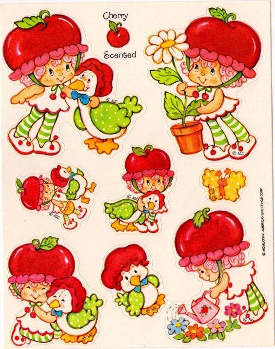 Vintage Kenner Strawberry Shortcake Cherry Cuddler & Gooseberry.