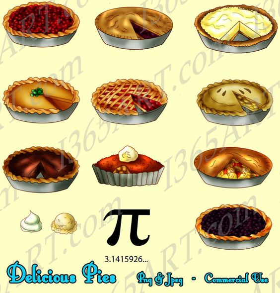 Pie Clipart, Pie clip art, food clipart, baked pies, Party.
