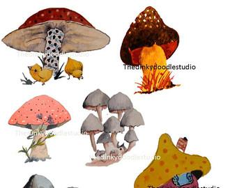 Toadstool clip art.