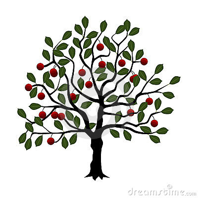Cherry Tree Clip Art.