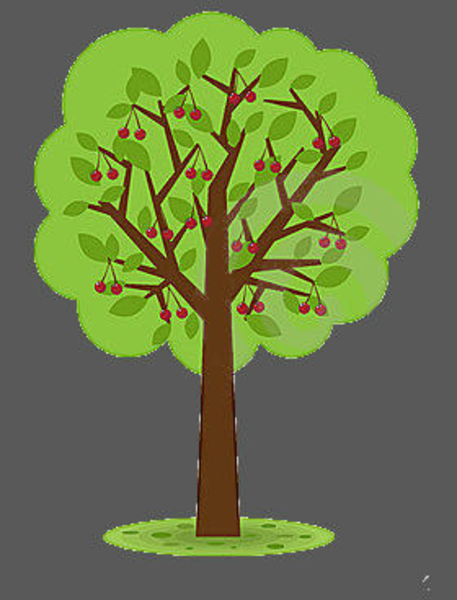 Cherry tree clipart.