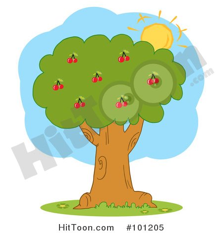 Cherry Trees Clipart #1.