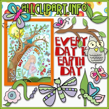 Earth Day is Everyday Clip Art.