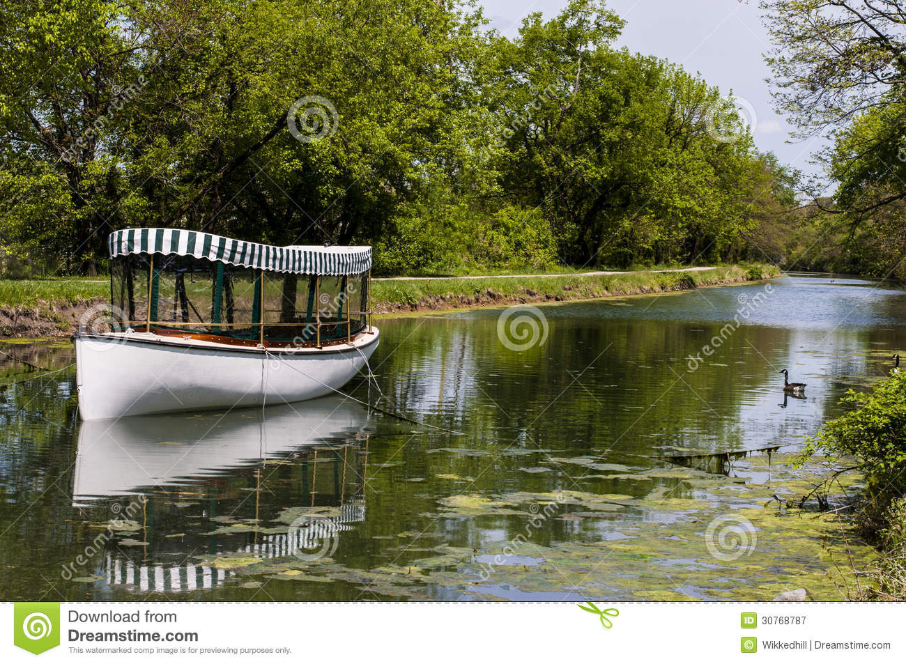 C&O Canal Boat Royalty Free Stock Photography.