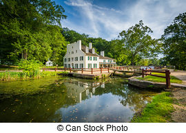 Stock Images of Georgetown Boat C&O Canal National Park Washington.